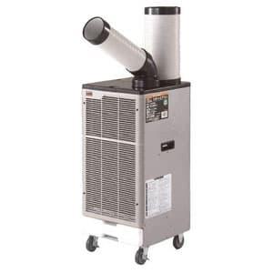 スポットエアコン 1口タイプ 三相200V 首振り機能なし 風量2段階切替式(弱・強) 電源コードなし