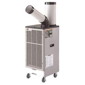 スポットエアコン 1口タイプ 三相200V 首振り機能付 風量2段階切替式(弱・強) 電源コードなし