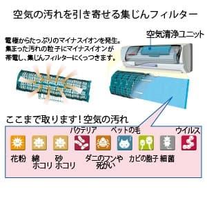 空気清浄ユニット用集じんフィルター バイオ除菌 交換用 H87×W322mm 画像2