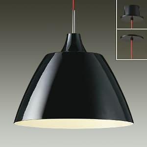 LEDペンダントライト 直付/埋込兼用 電球色 非調光タイプ E26口金 白熱灯100Wタイプ 端子台木ネジ取付方式 黒