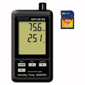 デジタル温湿度計 SDカードデータロガ SDカード(4GB)付