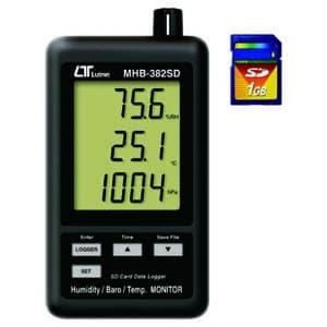 デジタル温湿度・気圧計 SDカードデータロガ SDカード(4GB)付