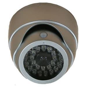 ドーム型ダミーカメラ 人感センサー白色LED搭載 天井取付タイプ
