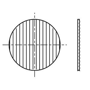 スプレッドレンズ SD-4444・5用 波板アクリル製 φ51mm