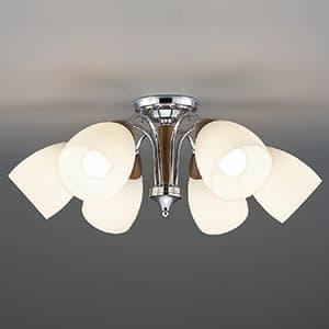 LEDランプ交換型シャンデリア 〜10畳用 非調光 LED電球7.8W×6 電球色 E26口金 ランプ付
