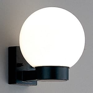 LEDランプ交換型エクステリアブラケットライト 屋外用壁付灯 防雨・防湿型 白熱60W相当 電球色 E26口金 ランプ付