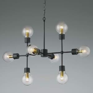 LEDランプ交換可能型シャンデリア 《ethane》 14.4W 電球形クリアランプ×8灯 口金E17 電球色