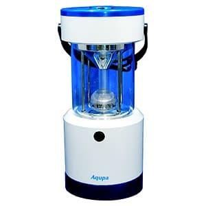 LEDランタン LED×8灯 連続点灯約120時間 パワーバー付 高さ253mm 《Aqupaランプ》 白/紺