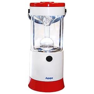LEDランタン LED×6灯 連続点灯約80時間 パワーバー付 高さ210mm 《Aqupaランプ》 白/赤