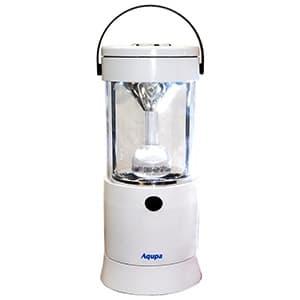 LEDランタン LED×6灯 連続点灯約80時間 パワーバー付 高さ210mm 《Aqupaランプ》 白