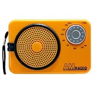 AMラジオ 水電池単3形×2本・ストラップ付