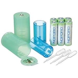 水電池サイズ変換アダプターセット 水電池単3形×6本付 単1形・単2形変換アダプター×各2個入