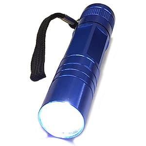ポケットLEDトーチ LED×1灯 単3形水電池・アルカリ電池(テスト用)付 ブルー