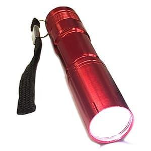 ポケットLEDトーチ LED×1灯 単3形水電池・アルカリ電池(テスト用)付 レッド