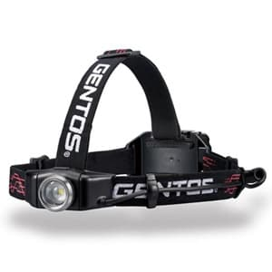 LEDヘッドライト 耐塵・耐水タイプ 白色LED×1灯 200lm W79.7×H34.5×D31.9mm 単4形アルカリ電池×4本付