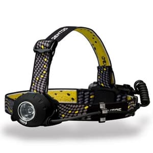 LEDヘッドライト 《ヘッドウォーズ》 防滴タイプ 白色LED×1灯 300lm W56×H50×D28mm 単3形アルカリ電池×3本付