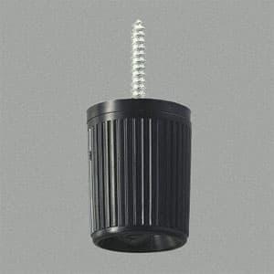 ペンダントライトコードハンガー 適合器具重量5kgまで 傾斜天井対応(45°まで) 黒