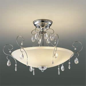 LEDシーリングライト 《オレッキーノ》 LEDランプ交換可能型 白熱球40W×6灯相当 電球色 5.8W×6灯 口金E17 取付簡易型 4906460516715