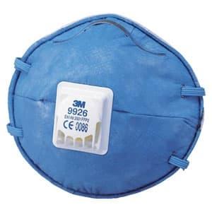 活性炭入り使い捨て式防じんマスク 頭掛けタイプ 排気弁付 10枚入