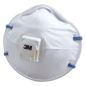 使い捨て式防じんマスク カップ型 頭掛けタイプ 排気弁付 10枚入