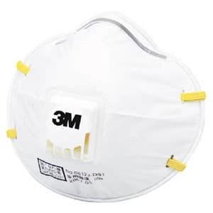 使い捨て式防じんマスク 頭掛けタイプ 排気弁付 10枚入