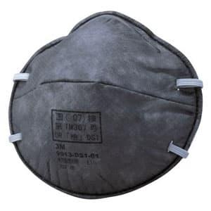 活性炭入り使い捨て式防じんマスク 頭掛けタイプ 11枚入