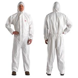 化学防護服 プラントメンテナンス用 XLサイズ 使い捨てタイプ ホワイト