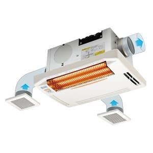 浴室換気乾燥暖房機 天井取付タイプ 2〜3室換気タイプ 防水リモコン付