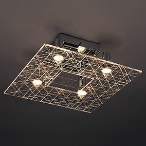 LEDランプ交換型シーリングライト 非調光 ダイクロハロゲン60W×4相当 電球色 E11口金 ランプ付 4968478547211