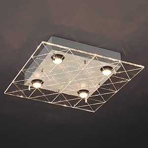 LEDランプ交換型シーリングライト 非調光 ダイクロハロゲン60W×4相当 電球色 E11口金 ランプ付 4968478547228