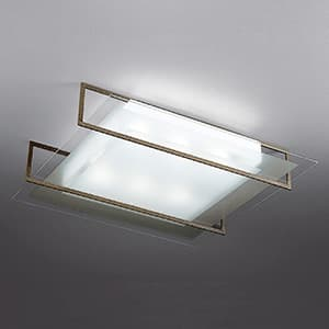 LEDランプ交換型シーリングライト 〜8畳用 ボルト固定型 非調光 LED電球7.8W×6 電球色 E26口金 ランプ付 ラスティー 4968478550761