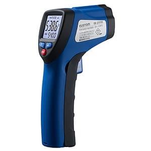 放射温度計 距離:測定径=130cm:φ10cm 測定範囲-50〜+550℃ 放射率可変 レーザーマーカー機能付
