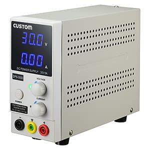 直流安定化電源 スイッチングレギュレーション方式 デジタル表示 出力電圧範囲0〜30V 出力電流範囲0〜3A