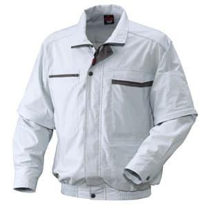 充電式クーリングジャケット XLサイズ 長袖・半袖兼用タイプ シルバー