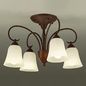 LEDシャンデリア 〜6畳用 ランプ付 ハンドメイド品 白熱灯60W×4灯相当 非調光タイプ 7.5W×4灯 口金E26 電球色タイプ