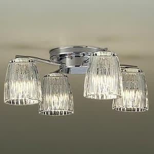 LEDシャンデリア 〜4.5畳用 ランプ付 白熱灯60W×4灯相当 非調光タイプ 4.7W×4灯 口金E17 電球色タイプ