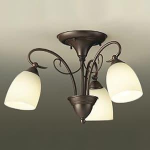 LEDシャンデリア 〜4.5畳用 ランプ付 ハンドメイド品 白熱灯60W×3灯相当 非調光タイプ 7.5W×3灯 口金E26 電球色タイプ
