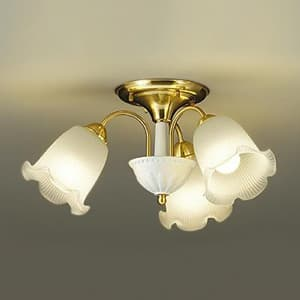 LEDシャンデリア ランプ付 白熱灯60W×3灯相当 非調光タイプ 4.9W×3灯 口金E26 電球色タイプ