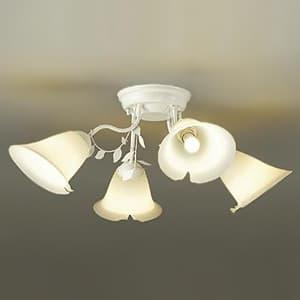 LEDシャンデリア 〜4.5畳用 ランプ付 ハンドメイド品 白熱灯60W×4灯相当 非調光タイプ 4.7W×4灯 口金E17 電球色タイプ