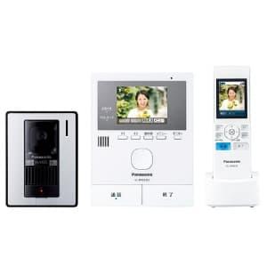 テレビドアホン スリムデザイン モニター親機 玄関子機・ワイヤレスモニター子機付 LEDライト搭載