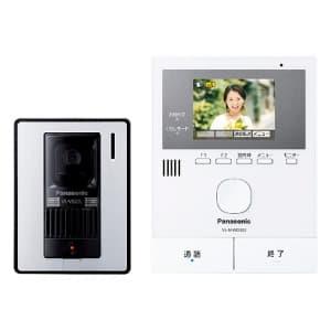 テレビドアホン スリムデザイン モニター親機 玄関子機付 LEDライト搭載