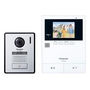 テレビドアホン LEDライト搭載玄関子機付 広角レンズ採用 録画機能付 SDカード対応