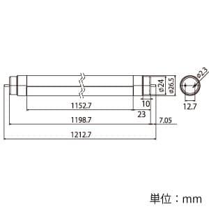 直管LEDランプ 《ECOHiLUX HES-YF》 32形 1350lm G13口金 紫外線カットフィルム付 画像3