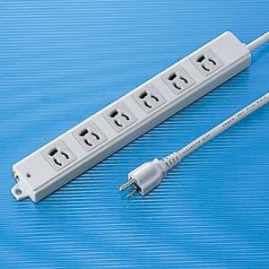 工事物件タップ 3P・6個口・1m 抜け止めタイプ マグネット付 エココード(エコケーブル)採用