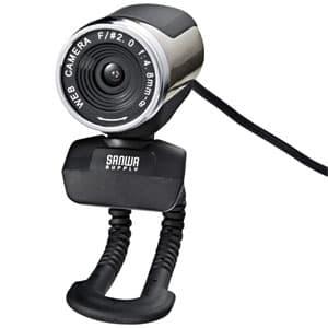 WEBカメラセット 高画質200万画素 USB2.0対応 マイク内蔵 ヘッドセット付 シルバー