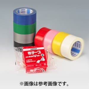 布テープ No.600Vカラー 幅50mm×長さ25m レッド