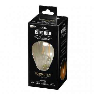 一般電球形LED電球フィラメントタイプ 40W相当 口金E26