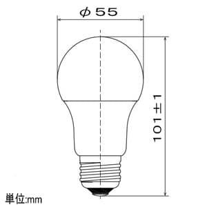 LED電球 一般電球形 広配光タイプ 一般電球60形相当 昼白色 E26口金 密閉形器具対応 画像2