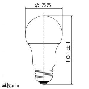 LED電球 一般電球形 広配光タイプ 一般電球60形相当 昼白色 E26口金 調光器対応 画像2