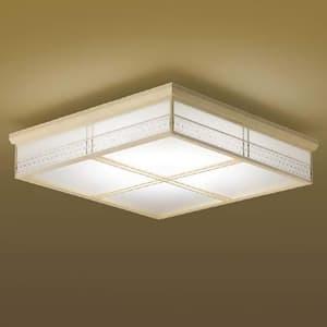 LED一体型和風シーリングライト 《宿灯》 直付専用 50W 調光調色タイプ 電球色+昼光色 専用リモコン付 4906460573381